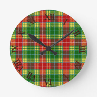 Clan Buchanan Tartan Round Clock
