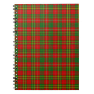 Clan Burnett Tartan Spiral Notebook