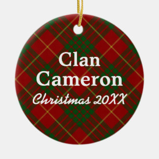 Clan Cameron Scottish Tartan Christmas Ornament