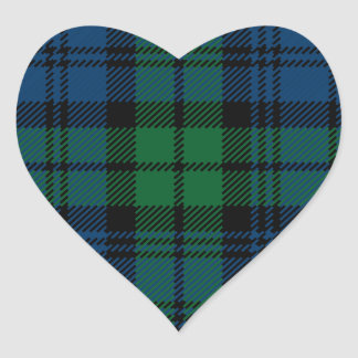 Clan Campbell Heart Sticker