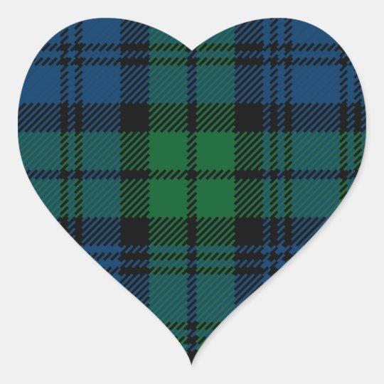 Clan Campbell Heart Sticker