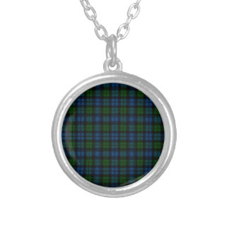 Clan Campbell Military Tartan Silver Plated Necklace