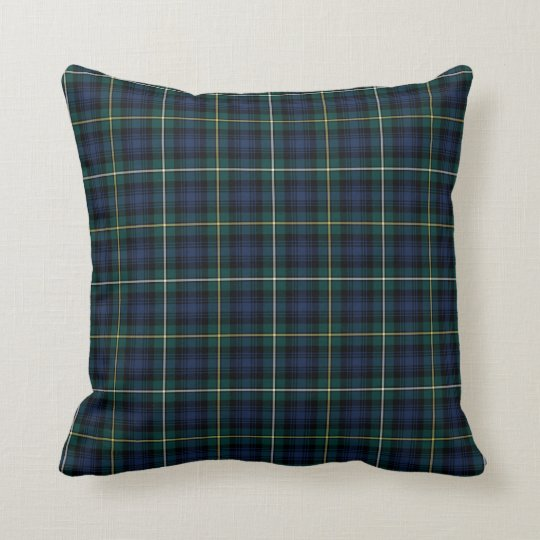 Clan Campbell Navy Blue and Green Scottish Tartan