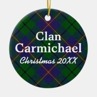 Clan Carmichael Scottish Tartan Christmas Ornament