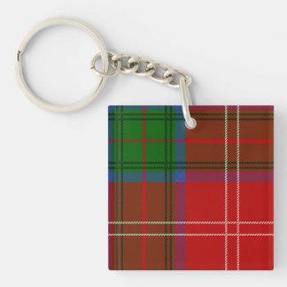 Clan Chisholm Tartan Double-Sided Square Acrylic Key Ring