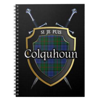 Clan Colquhoun Tartan Shield & Swords Notebook