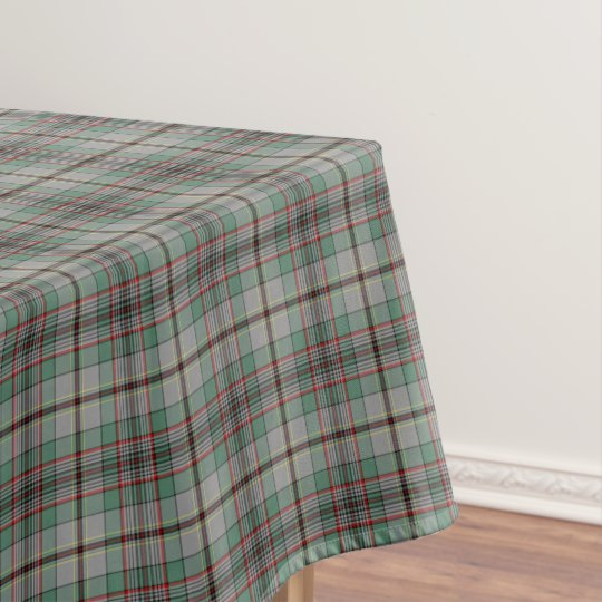 Clan Craig Grey and Green Scottish Tartan Tablecloth