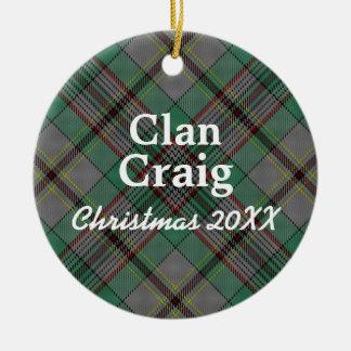 Clan Craig Scottish Tartan Christmas Ornament