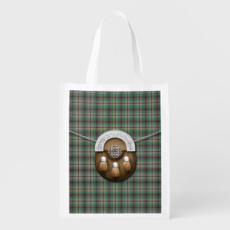 Clan Craig Tartan And Sporran Reusable Grocery Bag