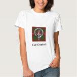 Clan Crawford Crest Tartan T Shirts