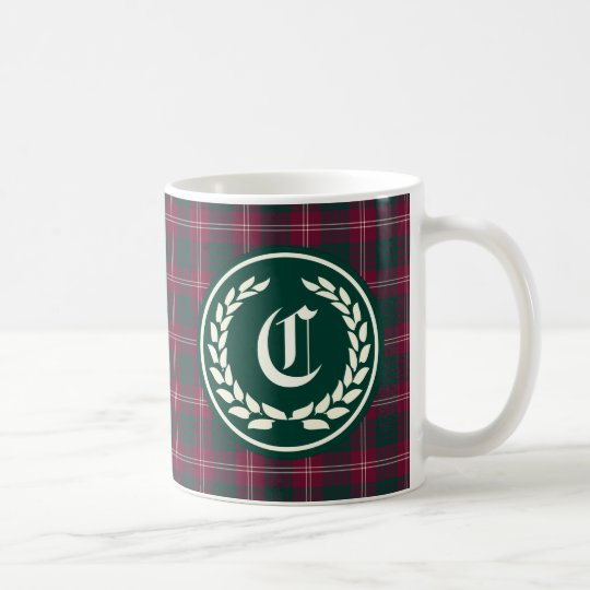 Clan Crawford Tartan Monogram Coffee Mug
