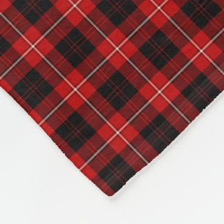 Clan Cunningham Red and Black Tartan Fleece Blanket