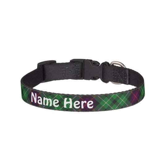 Clan Cunningham Tartan Customise Pet's Name Pet Collar