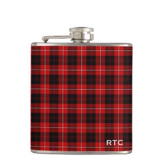 Clan Cunningham Tartan Monogrammed Hip Flask