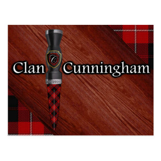 Clan Cunningham Tartan Sgian Dubh Blade Postcard