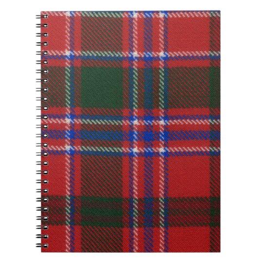 Clan Dalzell Tartan Spiral Notebook