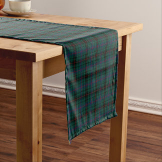 Clan Davidson Dark Green and Blue Scottish Tartan Short Table Runner