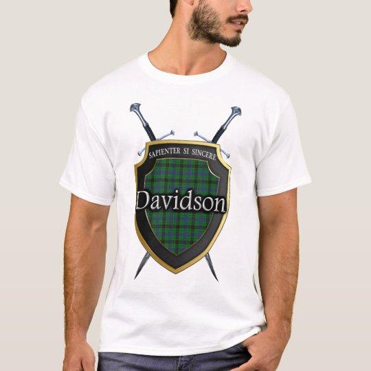 Clan Davidson Tartan Plaid Shield & Swords T-Shirt