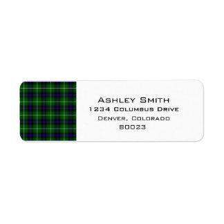 Clan Donald Macdonald Tartan Return Address Label