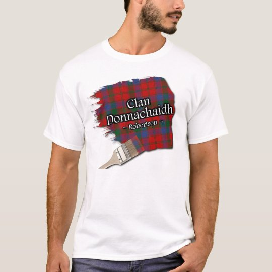 Clan Donnachaidh Robertson Scottish Tartan Paint T-Shirt