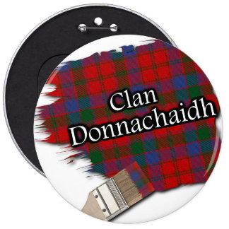 Clan Donnachaidh Tartan Paint Brush 6 Cm Round Badge