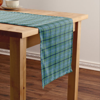 Clan Douglas Light Green and Blue Ancient Tartan Short Table Runner
