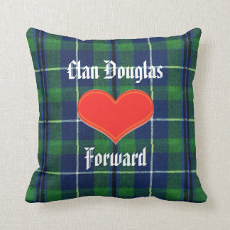 Clan Douglas Pillow With Archibald The Grim&Tartan
