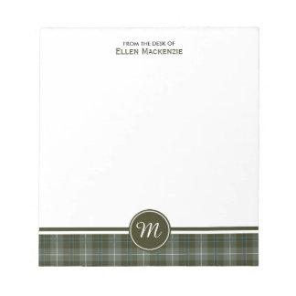 Clan Douglas Weathered Tartan Monogram Notepad