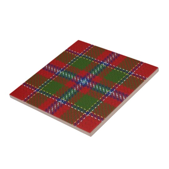 Clan Drummond Scottish Expressions Red Tartan Small Square Tile