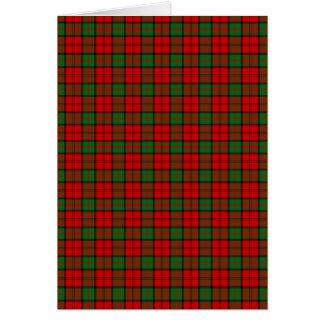 Clan Dunbar Tartan Card