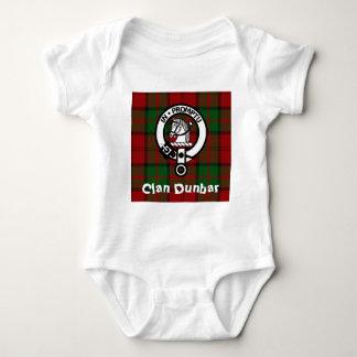 Clan Dunbar Tartan & Crest Badge Baby Bodysuit