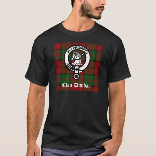 Clan Dunbar Tartan & Crest Badge T-Shirt