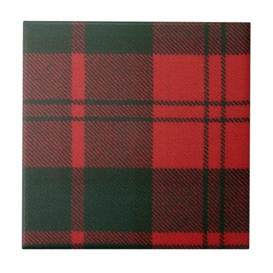 Clan Dunbar Tartan Small Square Tile