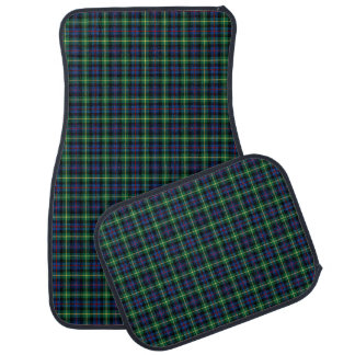 Clan Farquharson Bright Blue and Green Tartan Car Mat