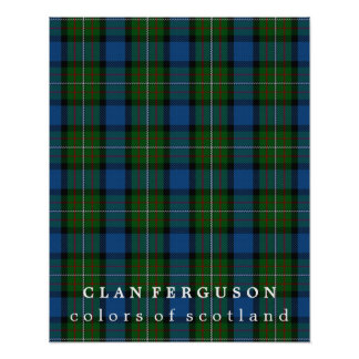 Clan Ferguson Colors of Scotland Tartan Poster