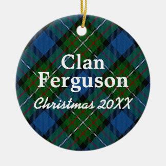Clan Ferguson Scottish Tartan Christmas Ornament