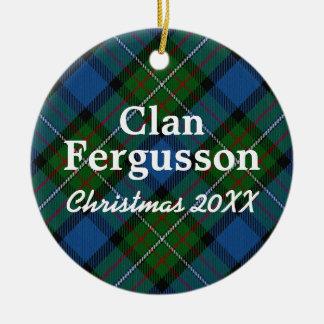 Clan Fergusson Scottish Tartan Christmas Ornament