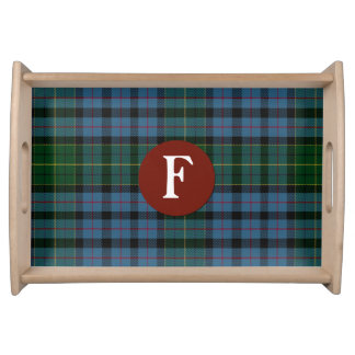 Clan Forsyth Tartan Plaid Monogram Serving Tray