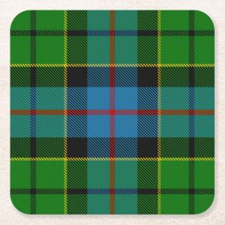 Clan Forsyth Tartan Square Paper Coaster