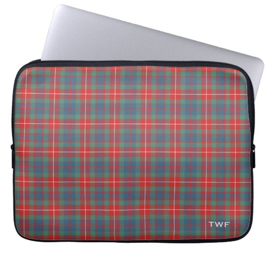 Clan Fraser Ancient Tartan Monogrammed Computer Sleeves