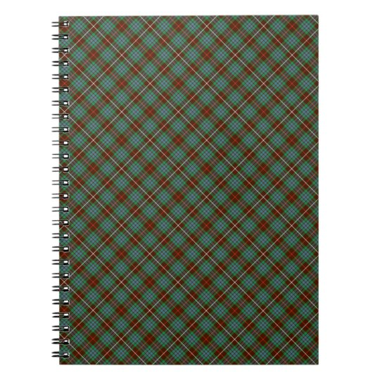 Clan Fraser Brown and Green Hunting Tartan Note
