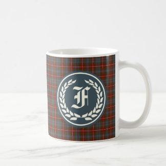 Clan Fraser of Lovat Reproduction Tartan Monogram Basic White Mug