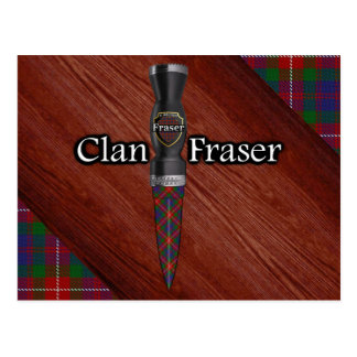 Clan Fraser of Lovat Tartan Sgian Dubh Blade Postcard