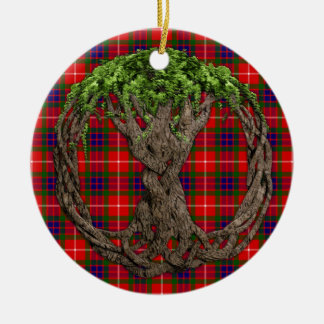 Clan Fraser Tartan And Celtic Tree Of Life Christmas Ornament