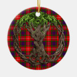 Clan Fraser Tartan And Celtic Tree Of Life Ornament
