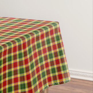 Clan Gibbs and Gibson Colorful Scottish Tartan Tablecloth