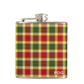 Clan Gibbs Tartan Monogram Flask