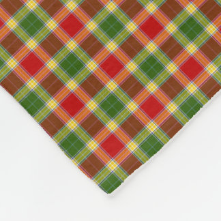 Clan Gibson Tartan Fleece Blanket