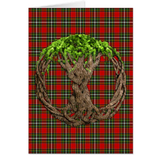Clan Gillespie Tartan And Celtic Tree Of Life Card