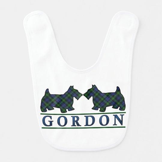 Clan Gordon Scottie Dogs Scottish Tartan Bib